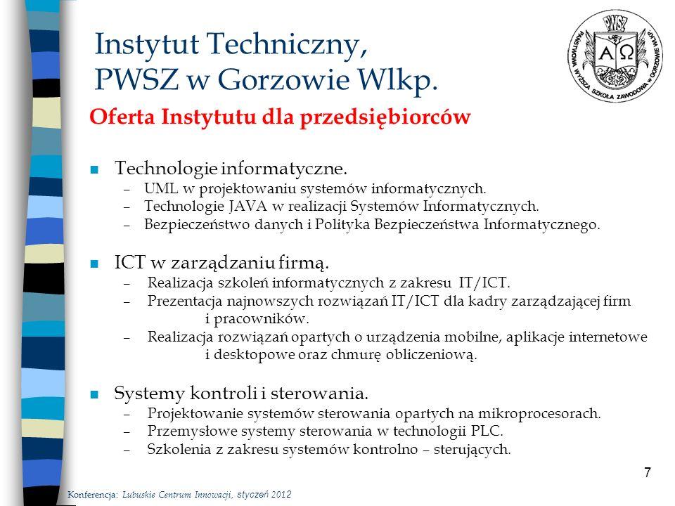 7 Instytut Techniczny, PWSZ w Gorzowie Wlkp.