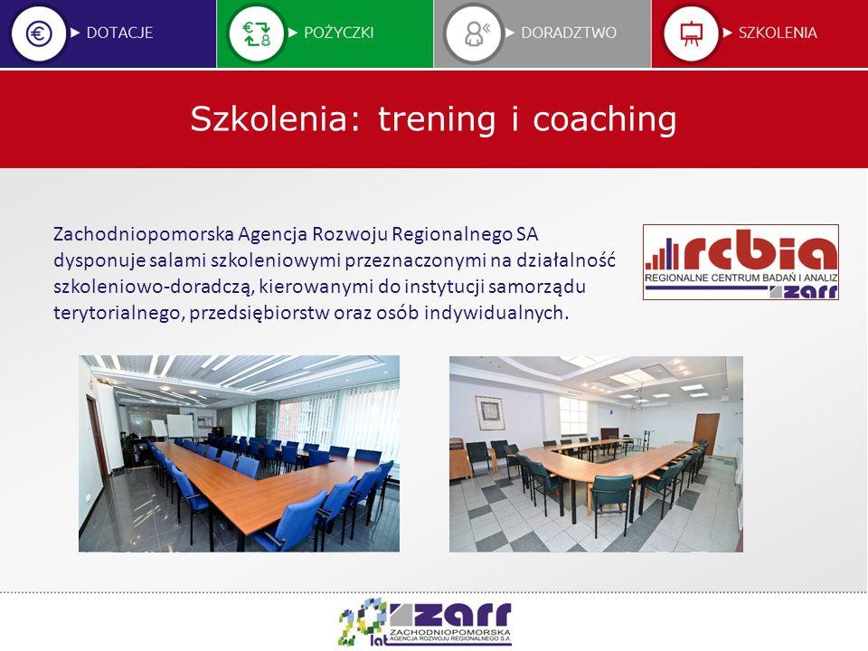 Szkolenia: trening i coaching Zachodniopomorska Agencja Rozwoju Regionalnego SA dysponuje salami szkoleniowymi przeznaczonymi na działalność szkolenio