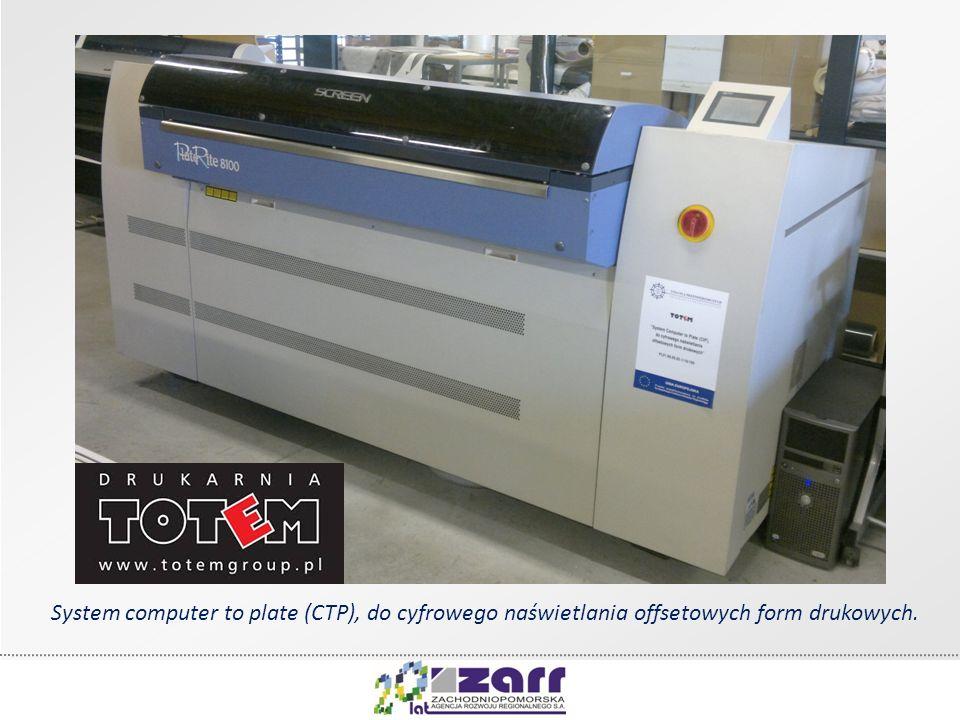 System computer to plate (CTP), do cyfrowego naświetlania offsetowych form drukowych.