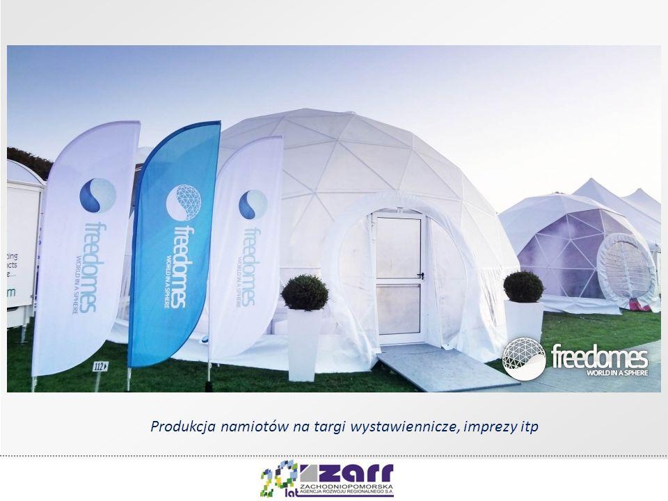 Produkcja namiotów na targi wystawiennicze, imprezy itp