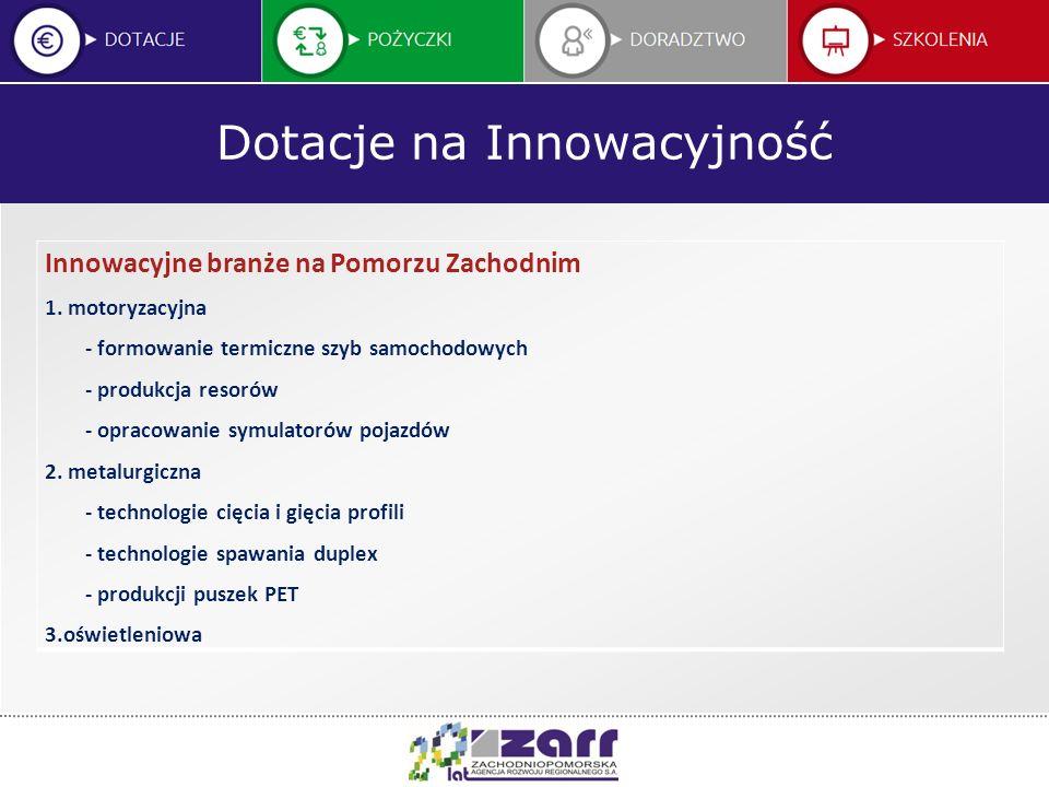 Dotacje na Innowacyjność Innowacyjne branże na Pomorzu Zachodnim 4.
