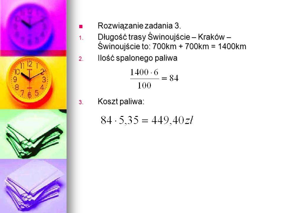 Rozwiązanie zadania 3. Rozwiązanie zadania 3. 1.