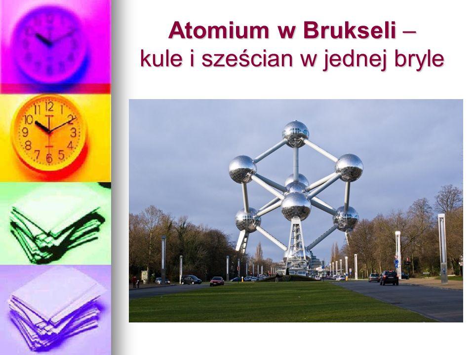 Atomium w Brukseli – kule i sześcian w jednej bryle