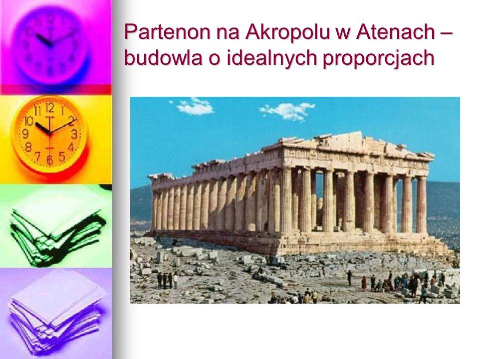 Partenon na Akropolu w Atenach – budowla o idealnych proporcjach