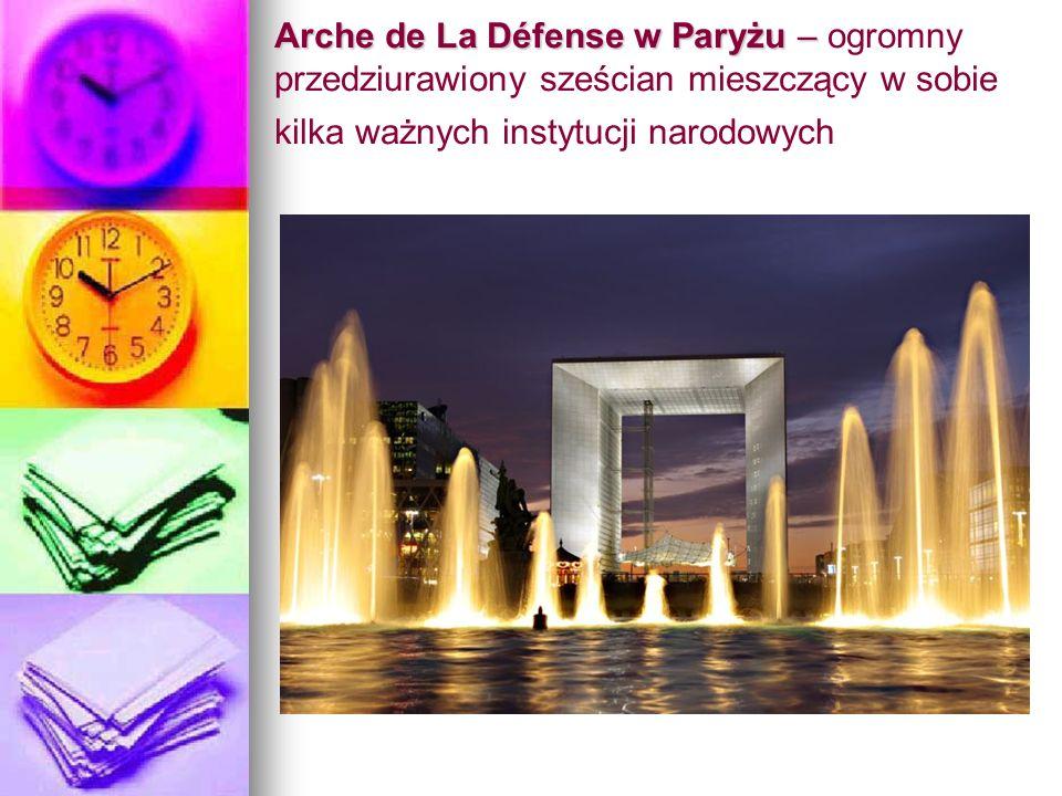 Arche de La Défense w Paryżu – Arche de La Défense w Paryżu – ogromny przedziurawiony sześcian mieszczący w sobie kilka ważnych instytucji narodowych