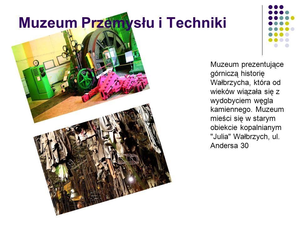 Muzeum Przemysłu i Techniki Muzeum prezentujące górniczą historię Wałbrzycha, która od wieków wiązała się z wydobyciem węgla kamiennego.