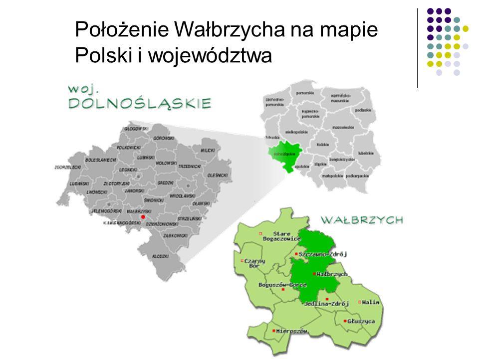 Położenie Wałbrzycha na mapie Polski i województwa