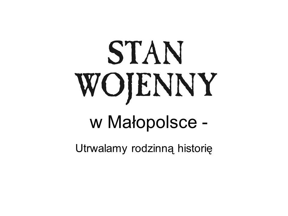 13 grudnia 1981 rok Przez cały dzień Polskie Radio i Telewizja Polska nadają tylko przemówienie generała Jaruzelskiego przewodniczącego Wojskowej Rady Ocalenia Narodowego (WRON), który obwieszcza wprowadzenie Stanu Wojennego do Polski.