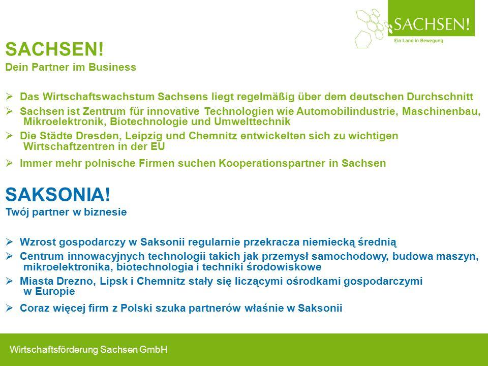 Wirtschaftsförderung Sachsen GmbH SACHSEN.