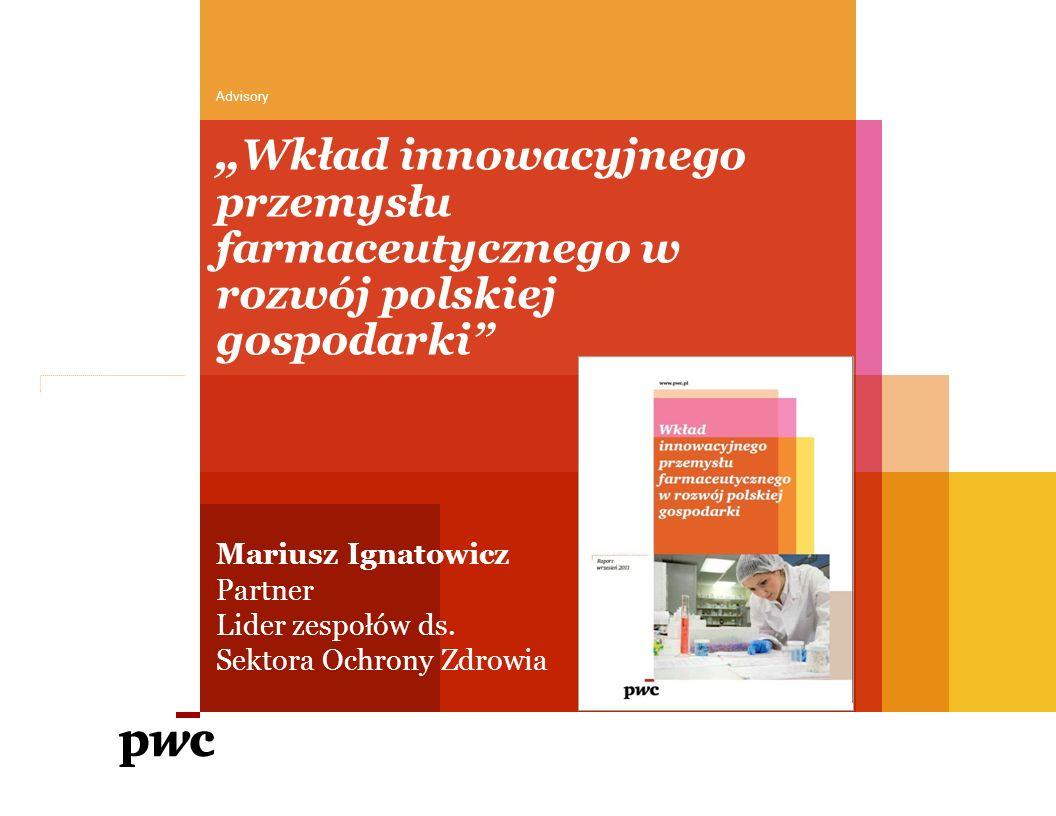 """Rynek farmaceutyczny w Polsce wart jest ponad 20 mld PLN w 2010, a firmy innowacyjne mają w nim 53% udziału Publikacja raportu PwC """"Wkład innowacyjnego przemysłu farmaceutycznego w rozwój polskiej gospodarki 2 Źródło: IMS 9,4 mld PLN 9,4 mld PLN 10,7 mld PLN 6,8 mld PLN"""