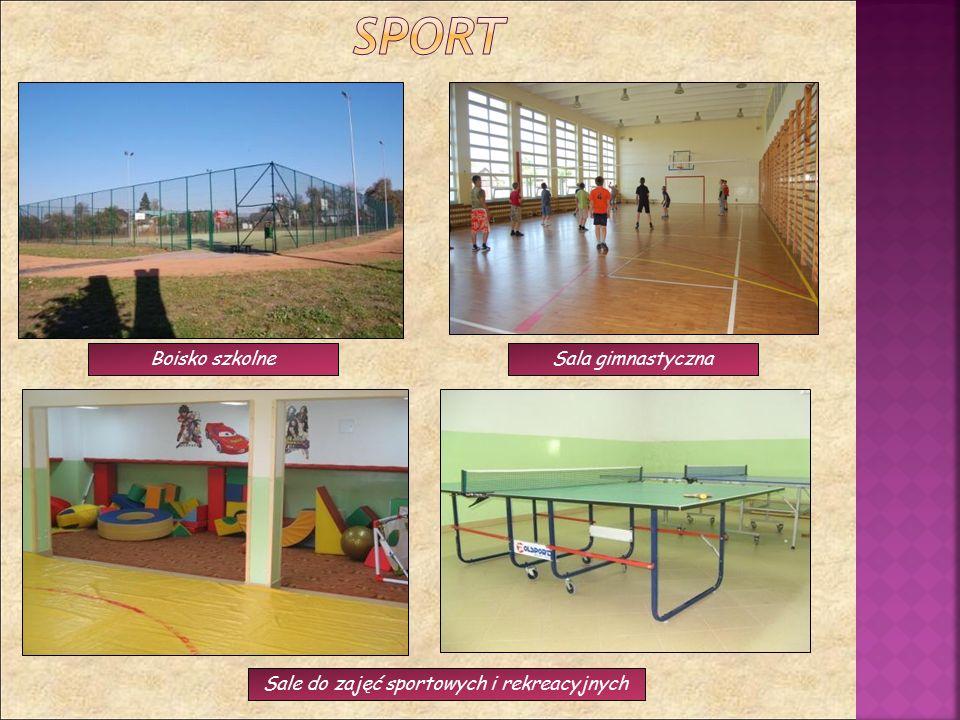 Boisko szkolneSala gimnastyczna Sale do zajęć sportowych i rekreacyjnych