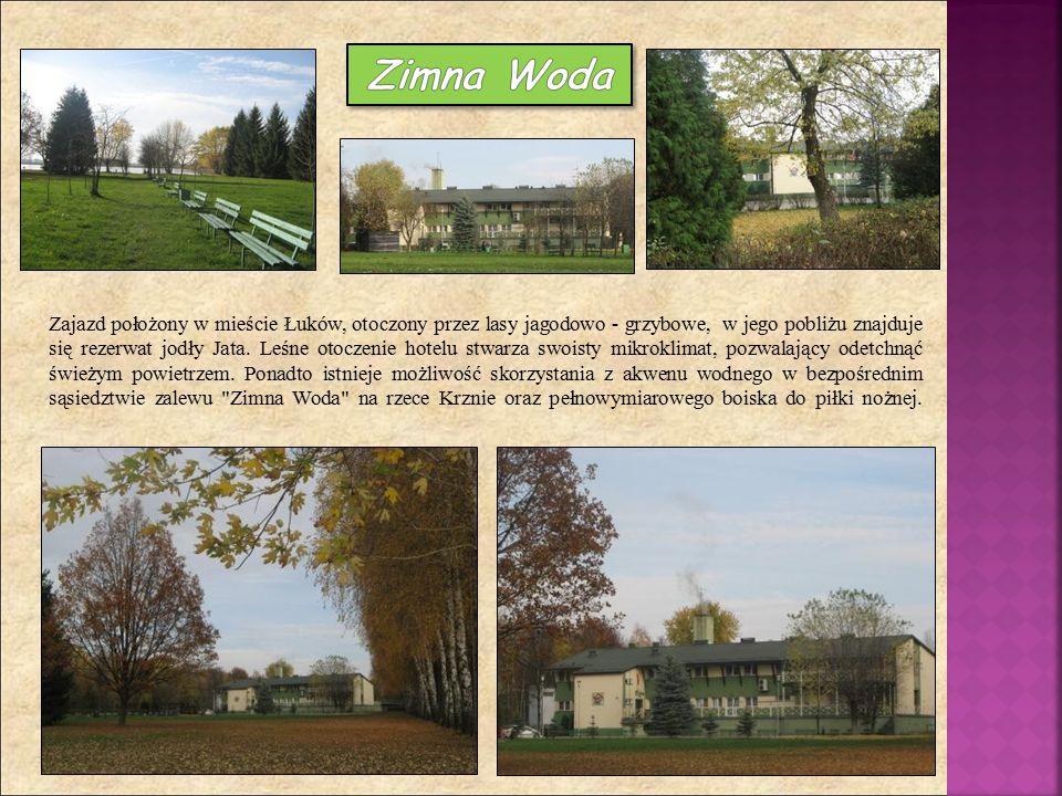 Zajazd położony w mieście Łuków, otoczony przez lasy jagodowo - grzybowe, w jego pobliżu znajduje się rezerwat jodły Jata. Leśne otoczenie hotelu stwa