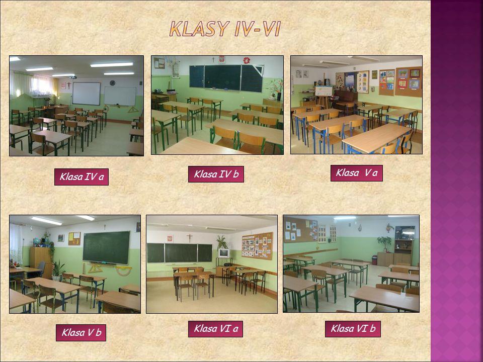 Klasa IV a Klasa IV b Klasa V a Klasa V b Klasa VI bKlasa VI a