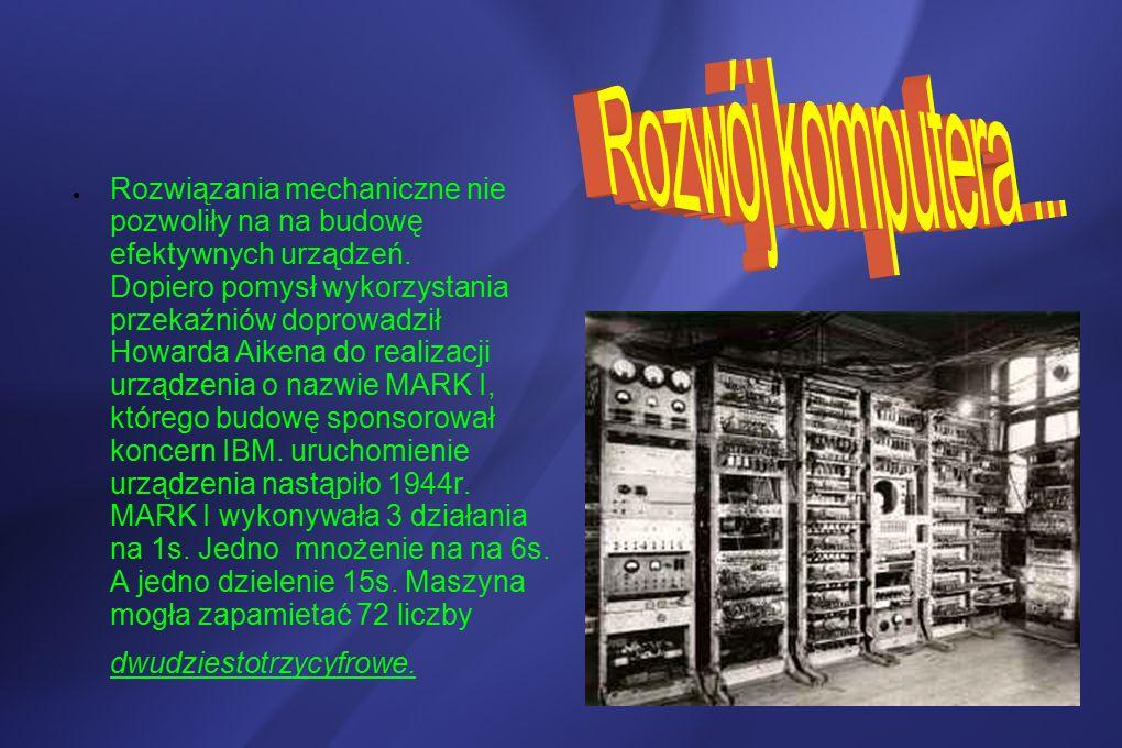 ● Rozwiązania mechaniczne nie pozwoliły na na budowę efektywnych urządzeń.