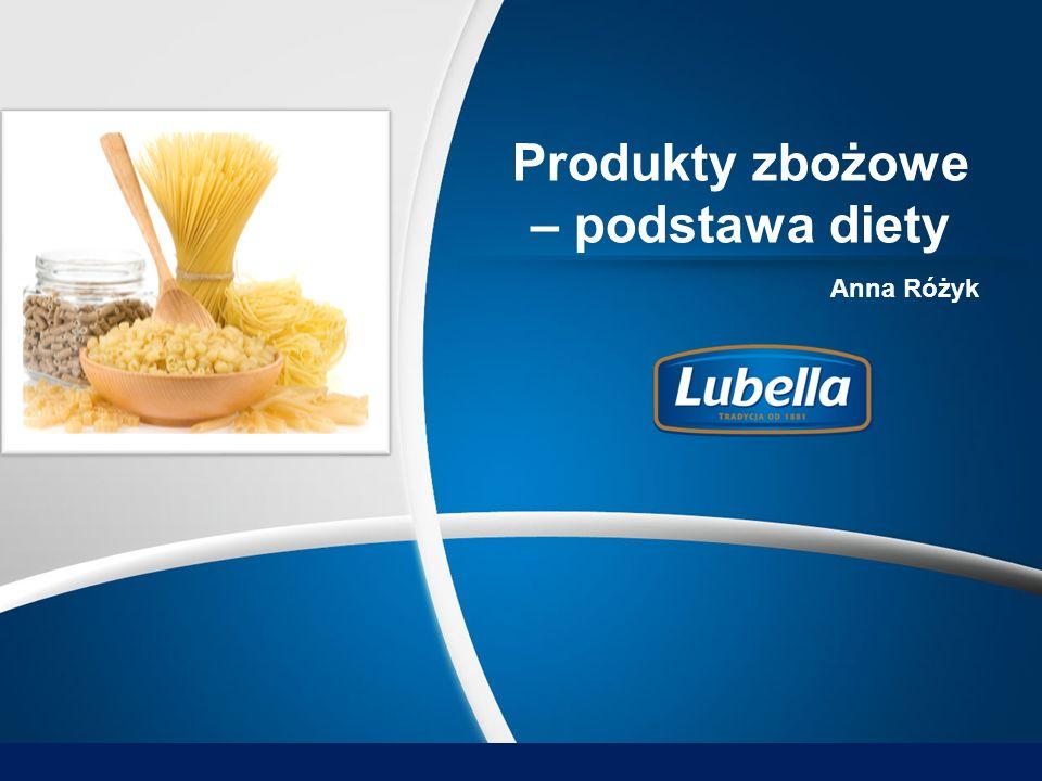Produkty zbożowe – podstawa diety Anna Różyk