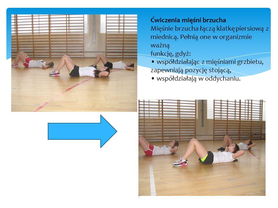 Ćwiczenia mięśni brzucha Mięśnie brzucha łączą klatkę piersiową z miednicą.