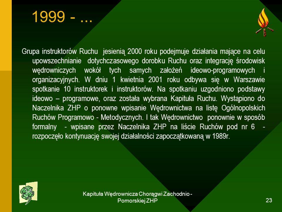 Kapituła Wędrownicza Chorągwi Zachodnio - Pomorskiej ZHP 23 1999 -...
