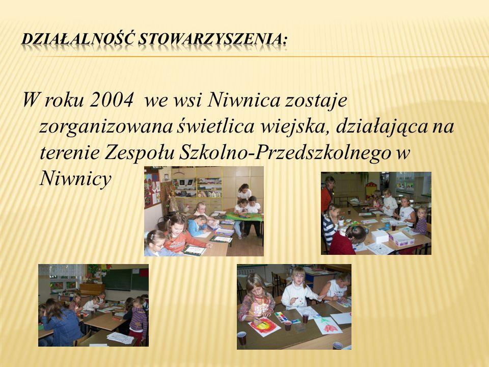 W roku 2004 we wsi Niwnica zostaje zorganizowana świetlica wiejska, działająca na terenie Zespołu Szkolno-Przedszkolnego w Niwnicy