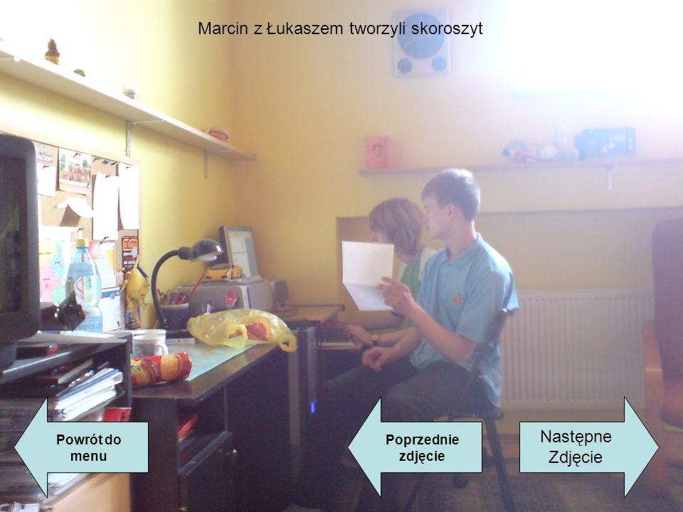 Marcin z Łukaszem tworzyli skoroszyt Powrót do menu Następne Zdjęcie Poprzednie zdjęcie