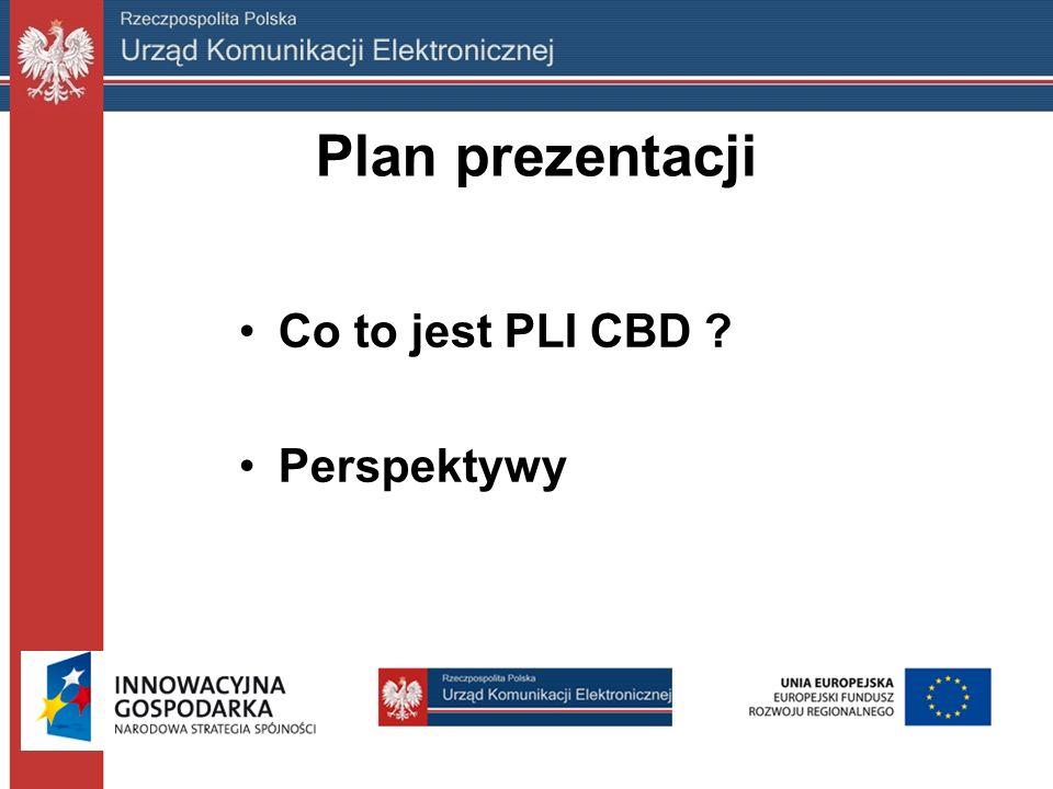 Plan prezentacji Co to jest PLI CBD Perspektywy