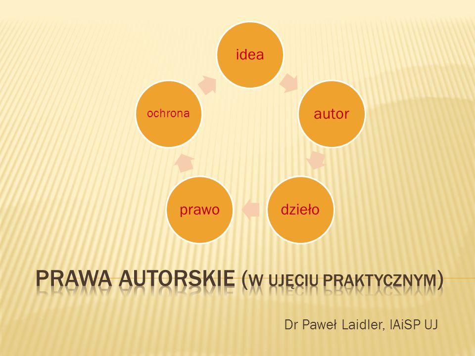 Dr Paweł Laidler, IAiSP UJ ideaautordziełoprawo ochrona