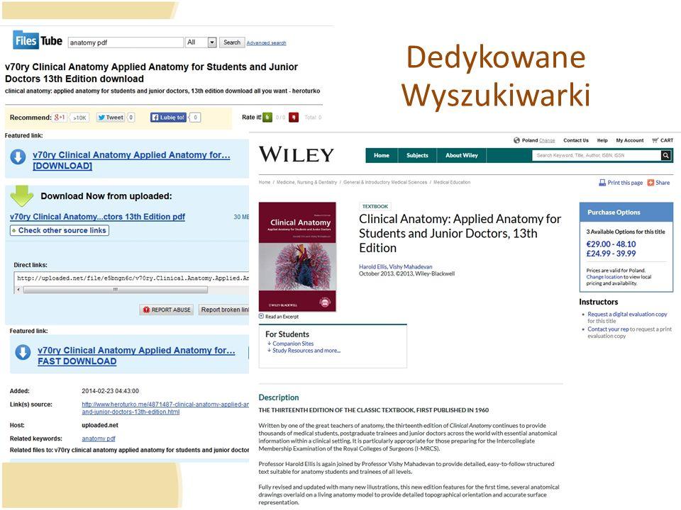 Dedykowane Wyszukiwarki
