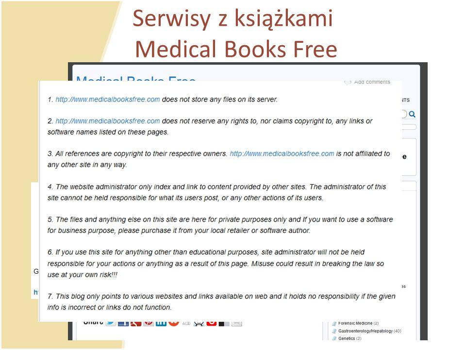 Serwisy z książkami Medical Books Free
