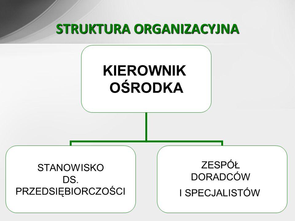 3 STRUKTURA ORGANIZACYJNA KIEROWNIK OŚRODKA STANOWISKO DS.