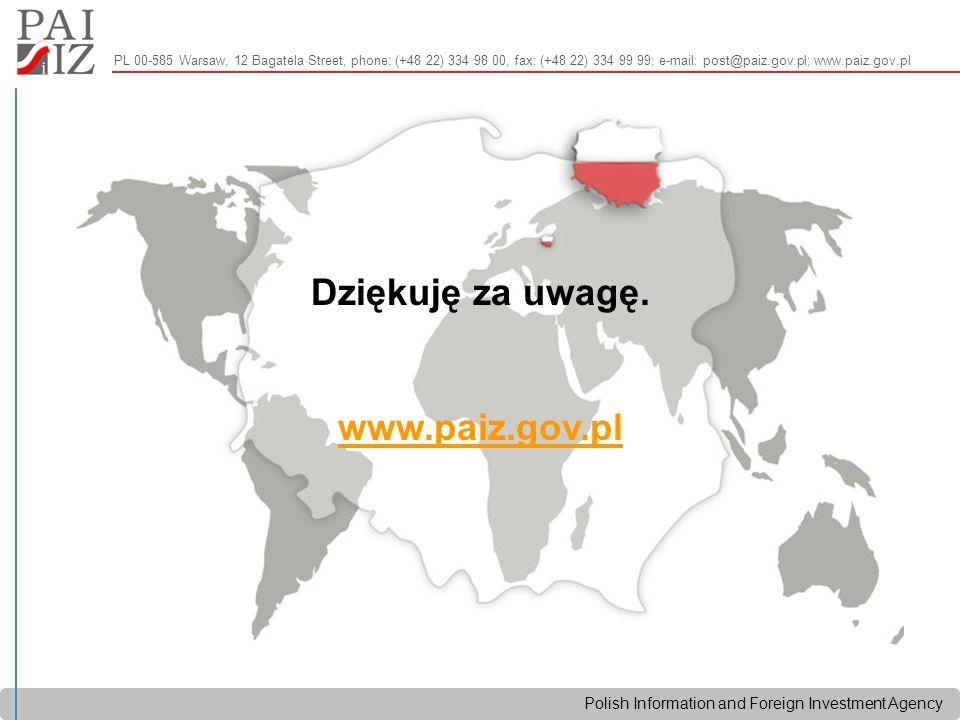 Polish Information and Foreign Investment Agency Dziękuję za uwagę.