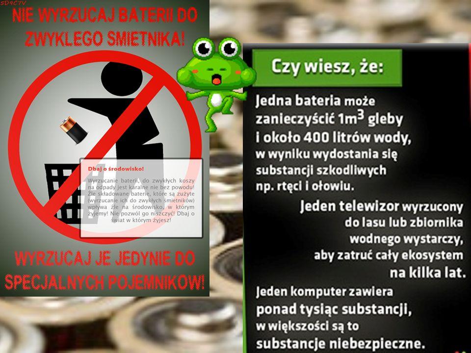 Mała bateria-duży problem.. Co roku w Polsce sprzedaje się około 300 mln baterii. Wyrzucanie ich do kosza negatywnie wpływa nie tylko na środowisko, a