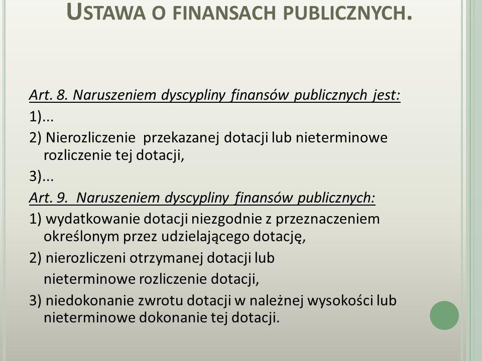 U STAWA O FINANSACH PUBLICZNYCH. Art. 4.