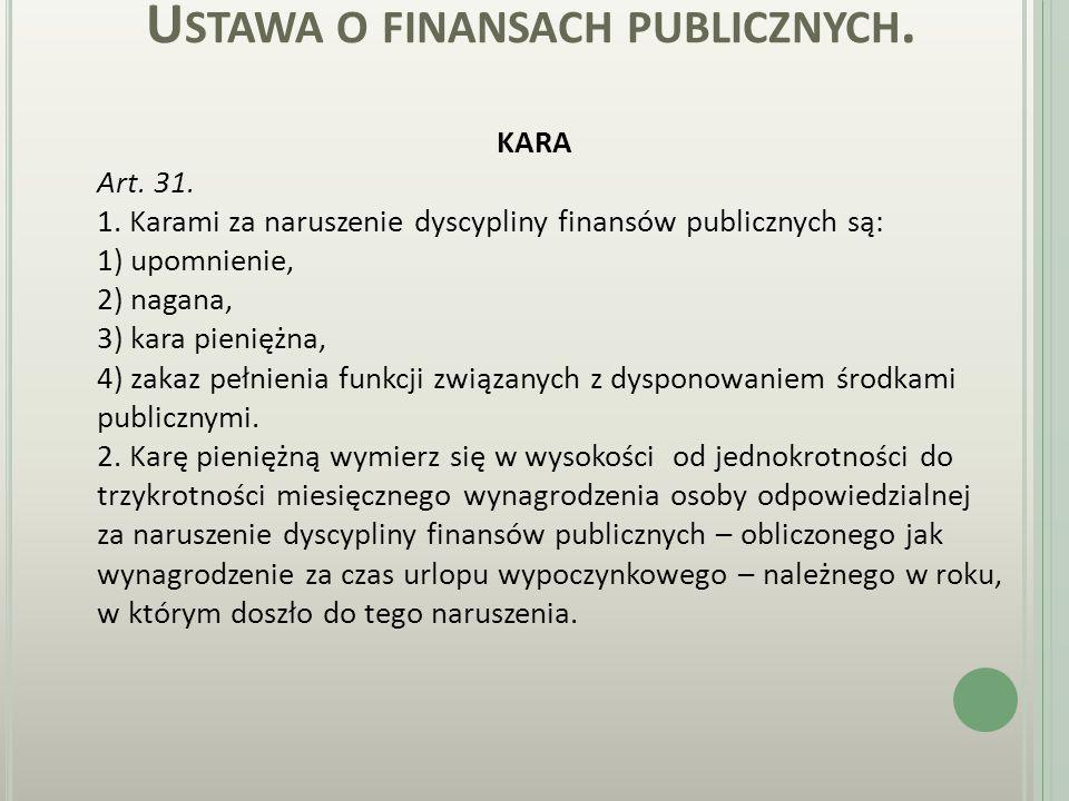 U STAWA O FINANSACH PUBLICZNYCH. Art. 23. 1.