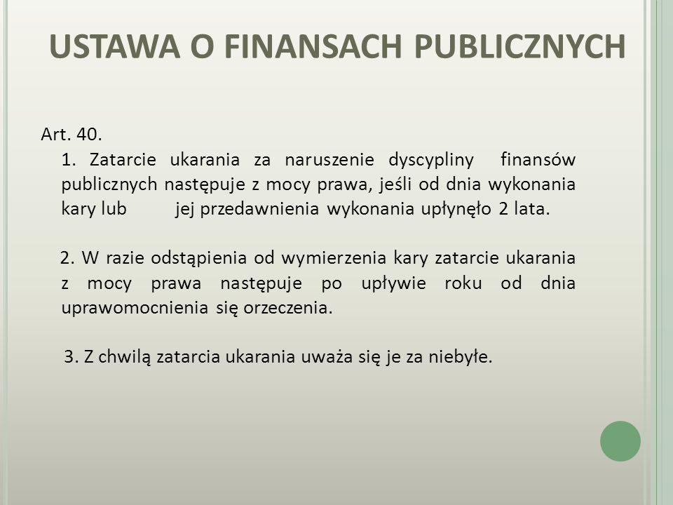 USTAWA O FINANSACH PUBLICZNYCH Art. 38.