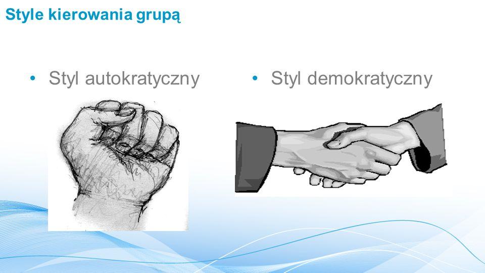 Style kierowania grupą Styl autokratycznyStyl demokratyczny