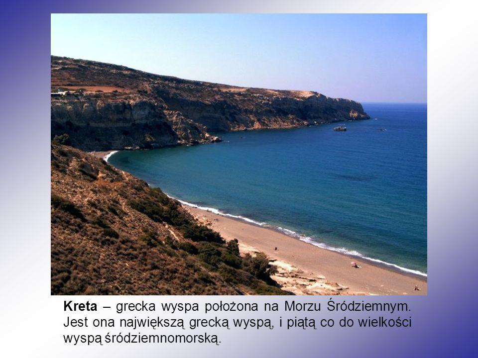 Kreta – grecka wyspa położona na Morzu Śródziemnym. Jest ona największą grecką wyspą, i piątą co do wielkości wyspą śródziemnomorską.
