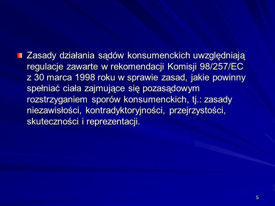16 Przykładowe rozstrzygnięcia sądów konsumenckich (1) W maju 2007 roku konsumentka zamówiła w cukierni internetowej tort weselny w stylu angielskim o wartości 480 zł.