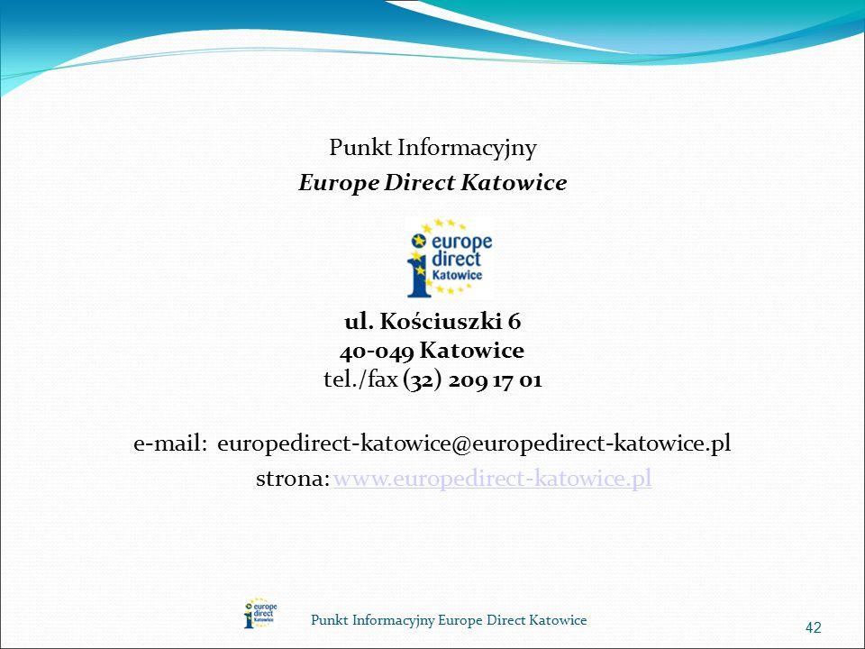 Punkt Informacyjny Europe Direct Katowice ul.