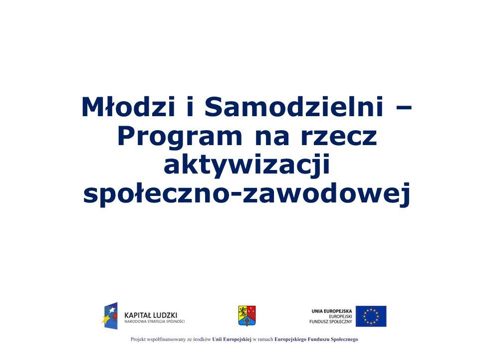 Młodzi i Samodzielni Projekt jest współfinansowany ze środków Unii Europejskiej w ramach Europejskiego Funduszu Społecznego.