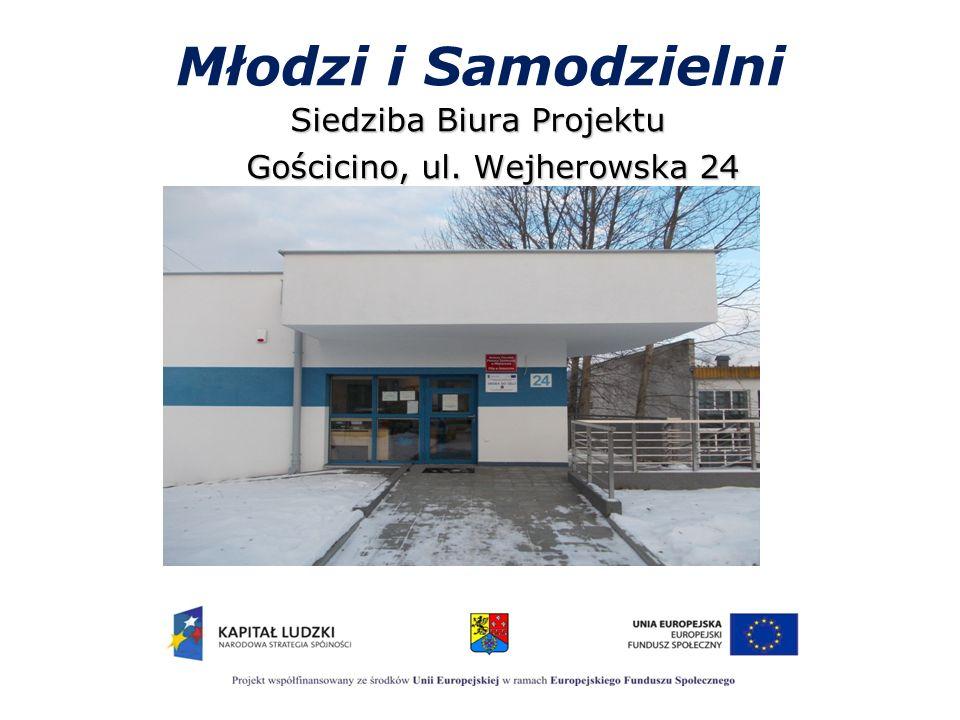Młodzi i Samodzielni Siedziba Biura Projektu Gościcino, ul. Wejherowska 24 Gościcino, ul. Wejherowska 24