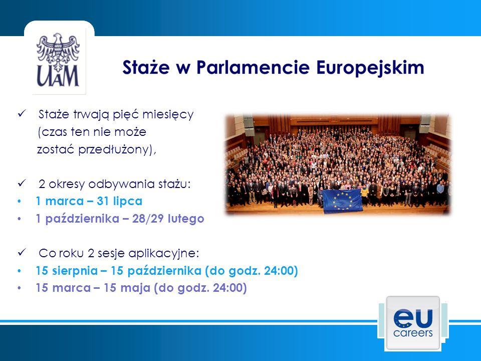 Stypendium stażysty wynosi ok.1000 euro ( w 2015 r.