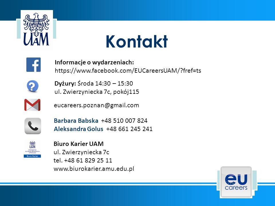 Źródła informacji wykorzystanych w prezentacji: * iplace.claremont.edu/wp-content/uploads/2014/06/Get-Ready-for-the-Job- Fair-20150209.pdf * en.wikipedia.org/wiki/Symbols_of_Europe * www.europarl.europa.eu/downloadcentre/en/visual-identity/graphic-charter * ec.europa.eu/dgs/translation/whoweare/index_en.htm * ec.europa.eu/research/index.cfm?lg=en * www.europarl.europa.eu/atyourservice/pl/20150201PVL00047/Sta%C5%BCewww.europarl.europa.eu/atyourservice/pl/20150201PVL00047/Sta%C5%BCe * ec.europa.eu/stages/index_en.htm * en.wikipedia.org/wiki/Traineeship_scheme_of_the_European_Commission