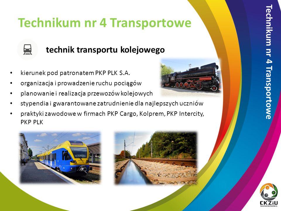 technik transportu kolejowego Technikum nr 4 Transportowe kierunek pod patronatem PKP PLK S.A.