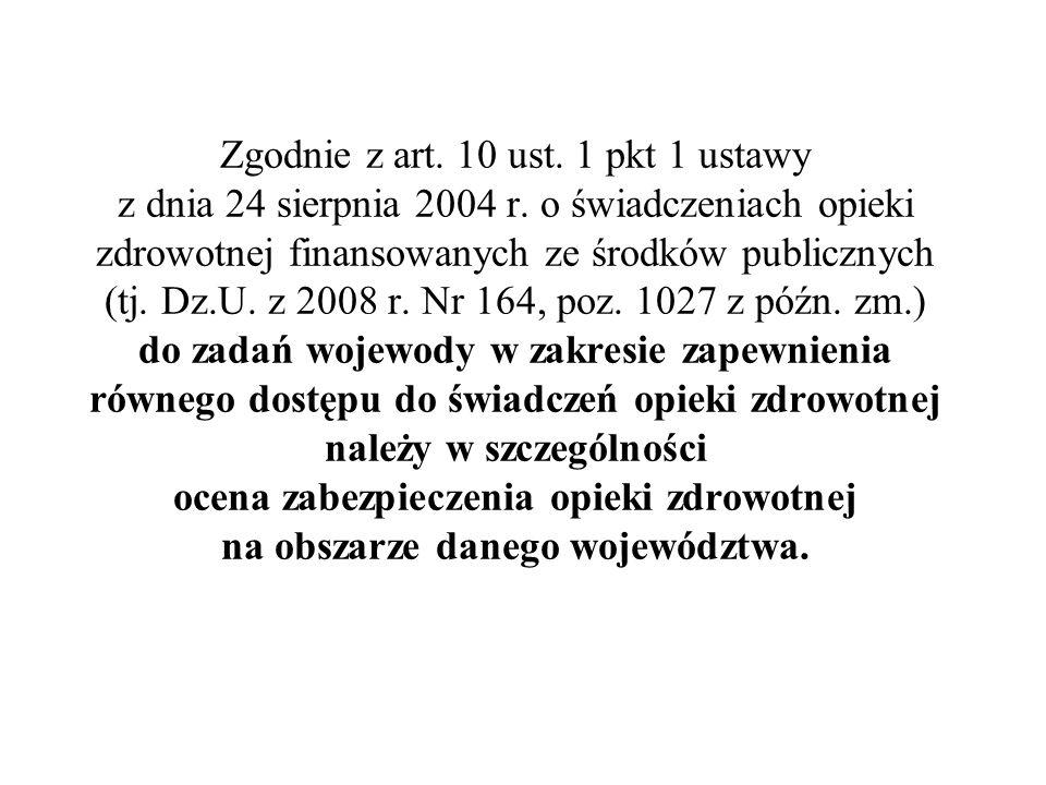 Zgodnie z art. 10 ust. 1 pkt 1 ustawy z dnia 24 sierpnia 2004 r. o świadczeniach opieki zdrowotnej finansowanych ze środków publicznych (tj. Dz.U. z 2