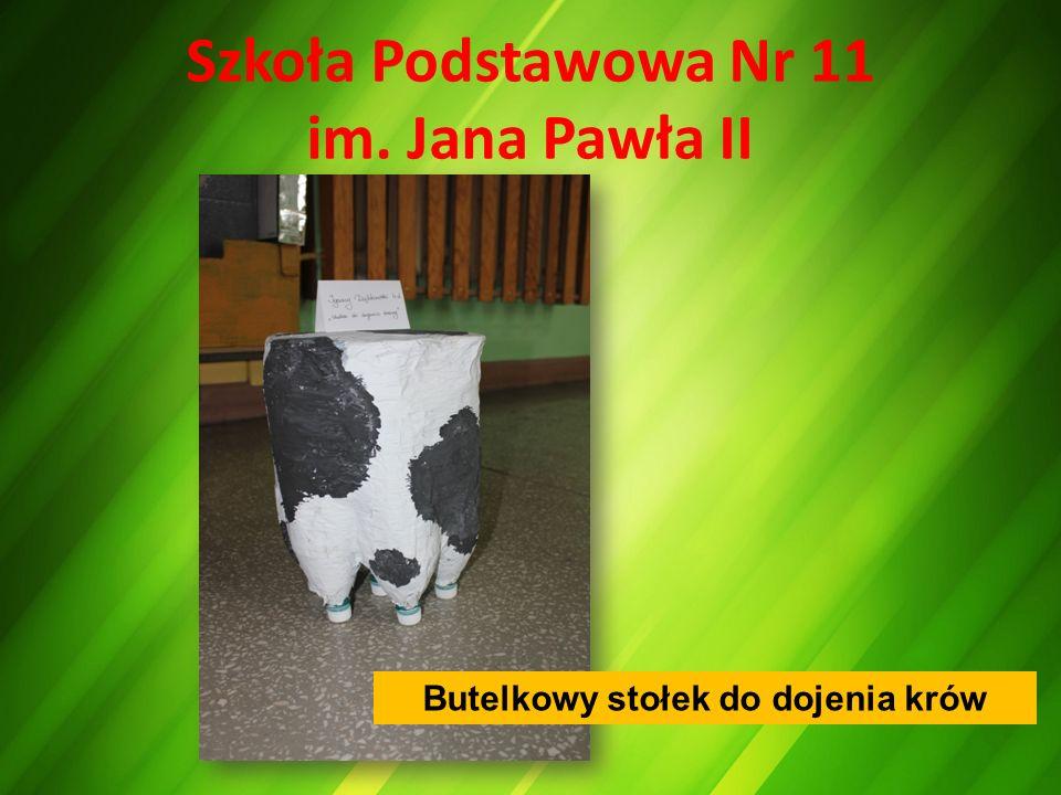 Szkoła Podstawowa Nr 11 im. Jana Pawła II Butelkowy stołek do dojenia krów