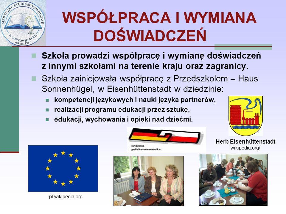WSPÓŁPRACA I WYMIANA DOŚWIADCZEŃ Szkoła prowadzi współpracę i wymianę doświadczeń z innymi szkołami na terenie kraju oraz zagranicy.