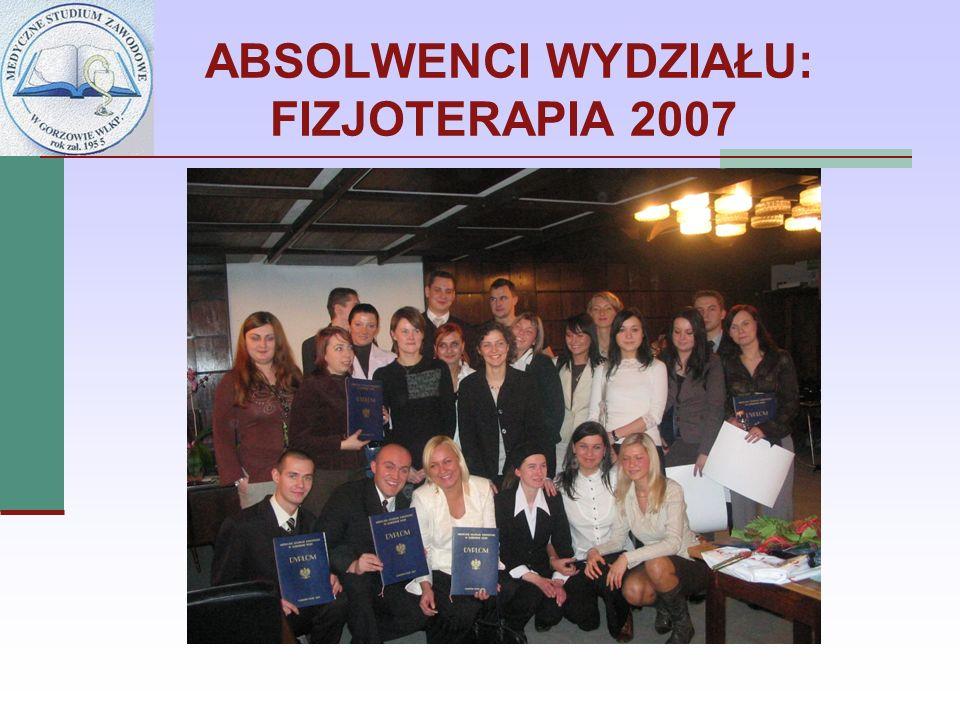 ABSOLWENCI WYDZIAŁU: FIZJOTERAPIA 2007