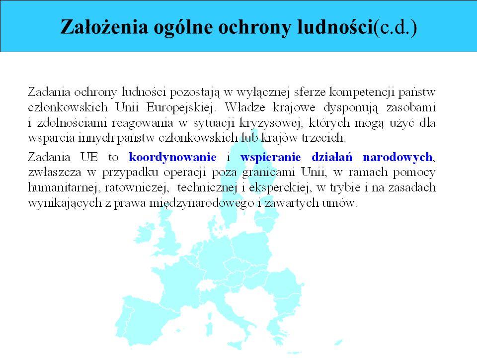 Założenia ogólne ochrony ludności(c.d.)
