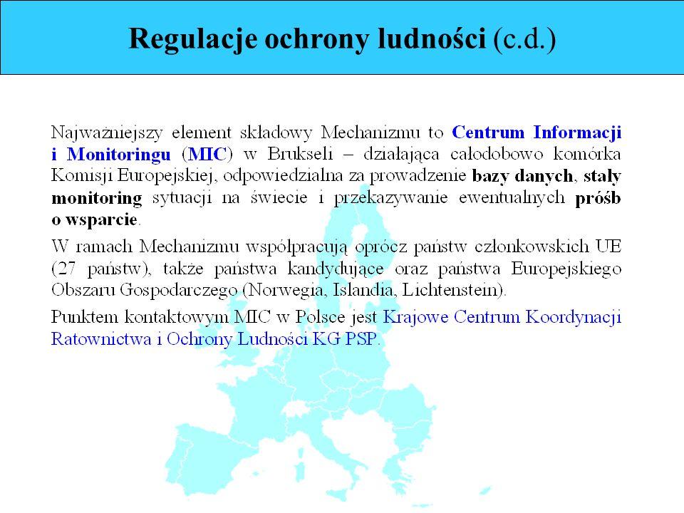 Regulacje ochrony ludności (c.d.)