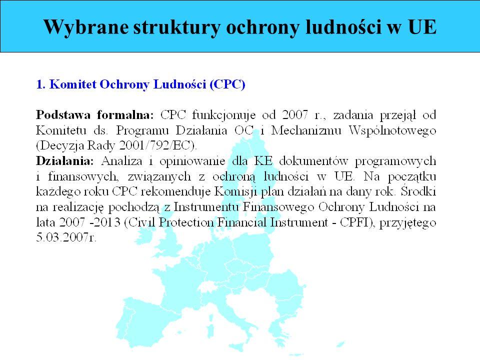Wybrane struktury ochrony ludności w UE