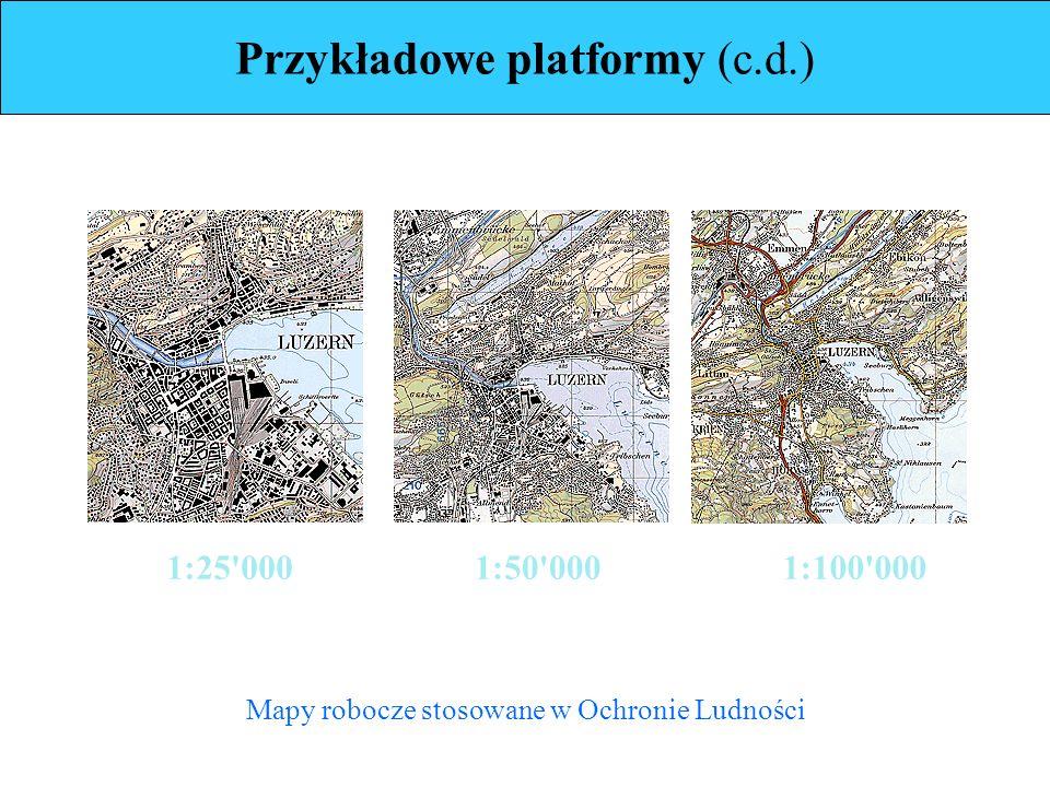 1:25 0001:50 0001:100 000 Mapy robocze stosowane w Ochronie Ludności